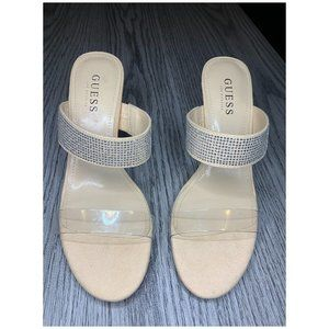 GUESS open toe heeled sandals